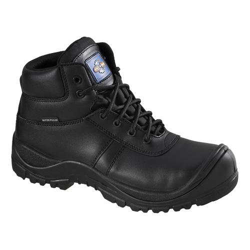 Rockfall Proman Boot Leather Waterproof 100% Non-Metallic Size 12 Black Ref PM4008-12 *5-7 Day Leadtime*