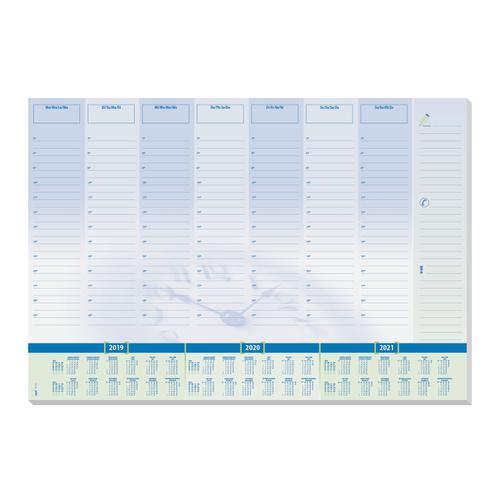 Sigel Desk Pad Calendar Planner 30 Sheets 595x410mm Light Blue Ref HO350