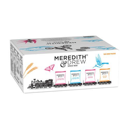 Meredith & Drew Minipack Biscuits 4 Varieties Twinpack Ref 0401183 [Pack 100]