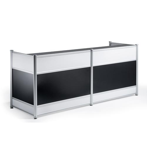 Trexus Reception Desk 2485x1030x25mm High Gloss Black Ref I000737