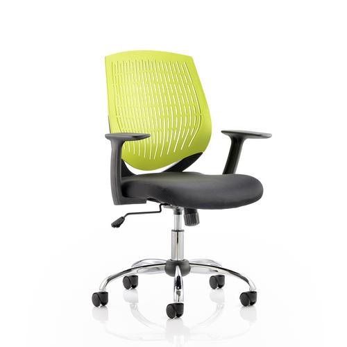 5 Star Office Dura Task Operator Chair With Arms Green Ref OP000016