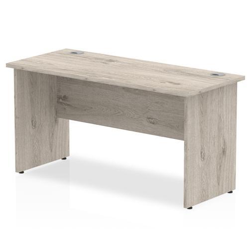 Trexus Slim Rectangular Desk Panel End Leg 1400x600mm Grey Oak Ref I003088