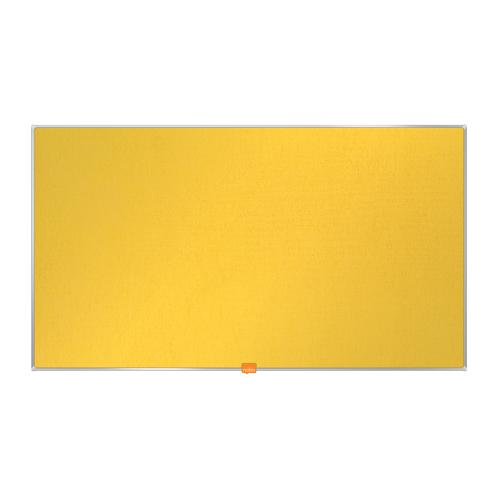 Nobo 40 inch Widescreen Felt Board 890x500mm Yellow Ref 1905319