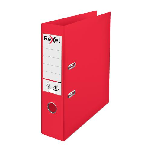 Rexel Choices LArch File PP 75mm A4 Red Ref 2115504
