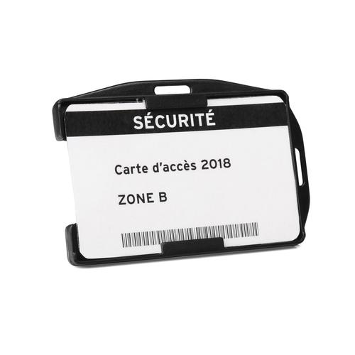 Tarifold Open faced Double ID card holders Black [Pack 10]