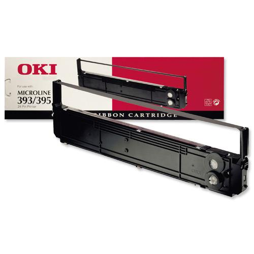 OKI Ribbon Cassette Fabric Nylon Black [for 393 395] Ref 09002311