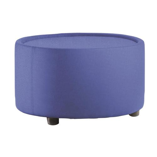 Trexus Neo Tub Table Circular 660x660x375mm Pre-assembled Fabric Blue