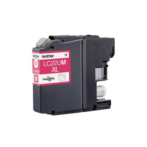 Brother Inkjet Cartridge High Yield Page Life 1200pp Magenta Ref LC22UM