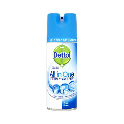 Dettol All in One Disinfectant Spray Crisp Linen 400ml Ref RB791301
