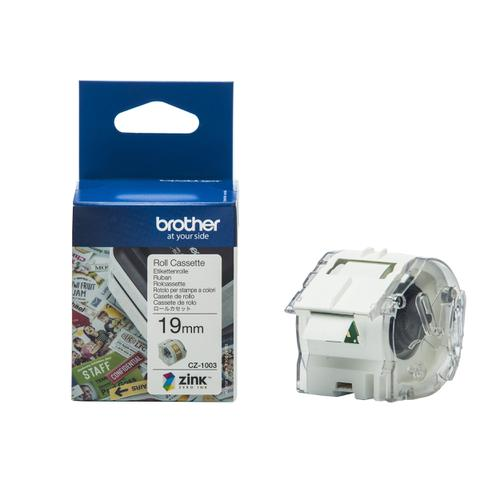 Brother Colour Label Printer 19mm Wide Roll Cassette Ref CZ1003