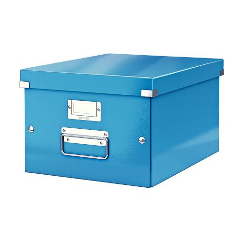 Leitz Click & Store Collapsible Storage Box Medium For A4 Blue Ref 60440036