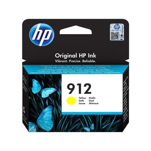 Hewlett Packard 912 Inkjet Cartridge Page Life 315pp 2.93ml Yellow Ref 3YL79AE