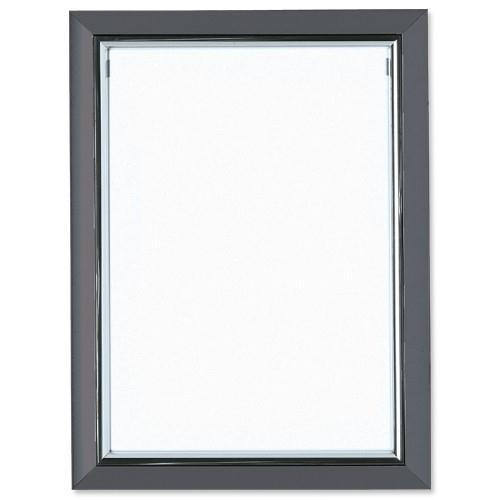 5 Star Facilities Snap De Luxe Certificate Frame Holds Standard A4 Certificates W210xD25xH297mm Smoke