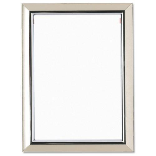 5 Star Facilities Snap De Luxe Certificate Frame Holds Standard A4 Certificates W210xD25xH297mm Silver