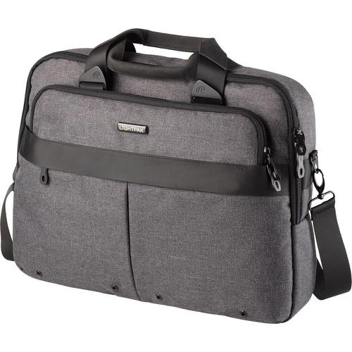 Lightpak Wookie Laptop Bag Polyester Capacity 17in Grey Ref 46166
