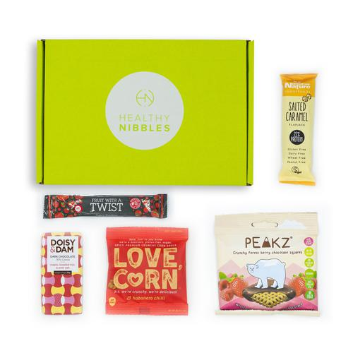 Healthy Nibbles Vegan Snack 5 Piece Mini Box Ref Vegan5 *Up to 2-3 Day Leadtime*