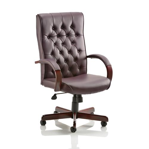 Trexus Chesterfield Executive Chair With Arms Leather Burgundy Ref EX000004