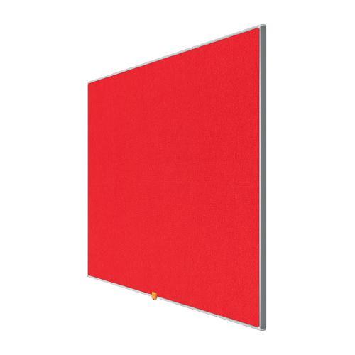 Nobo 55 inch Widescreen Felt Board 1220x690mm Red Ref 1905312
