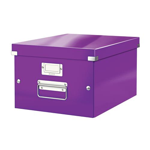 Leitz Click & Store Collapsible Storage Box Medium For A4 Purple Ref 60440062