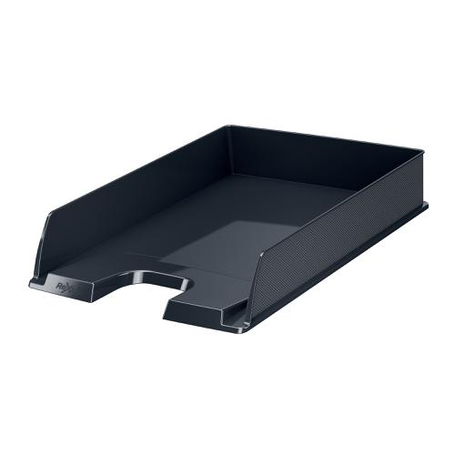 Rexel Choices Letter Tray PP A4 254x350x61mm Black Ref 2115598