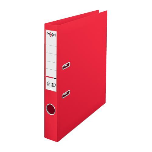Rexel Choices LArch File PP 50mm A4 Red Ref 2115508
