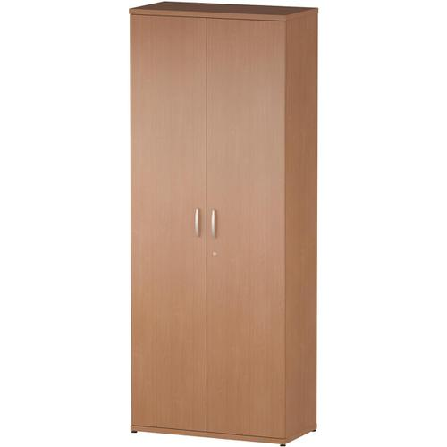 Trexus Office Very High Cupboard 800x400x2000mm 4 Shelves Beech Ref S00004