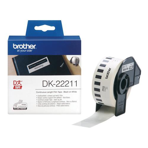 Brother Label Continuous Film 29mm x 15.24m White Ref DK22211