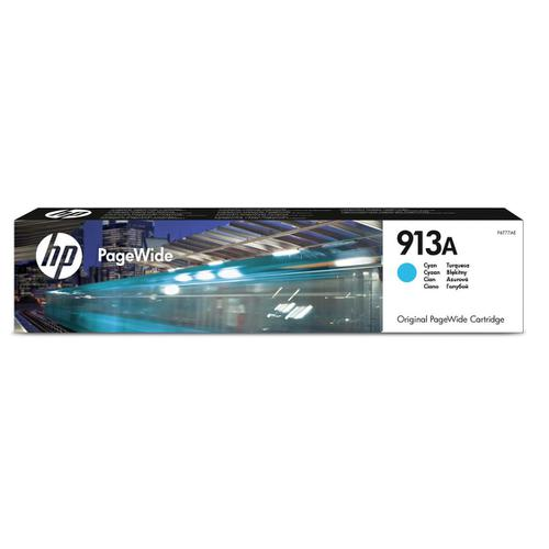 Hewlett Packard [HP] No.913A Inkjet PageWide Cartridge Page Life 3000pp 37ml Cyan Ref F6T77AE