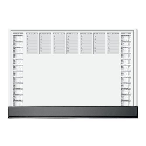 Sigel Paper Desk Pad with Black Protective Strip 40 sheets 595x410 Ref HO365