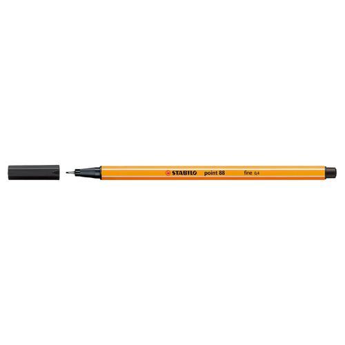 Stabilo Point 88 Fineliner Pen 0.4mm Line Black Ref 88/46 [Pack 10]