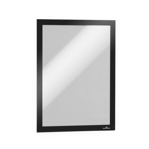Durable Duraframe A4 Self Adhesive with Magnetic Frame Black Ref 488201 [Pack 10]