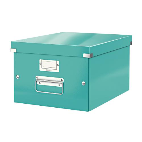 Leitz Click & Store Collapsible Storage Box Medium For A4 Ice Blue Ref 60440051