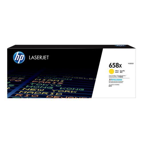 Hewlett Packard 658X Laser Toner Cartridge High Yield Page Life 28,000pp Yellow Ref W2002X