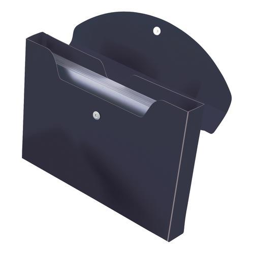 Rexel Optima Job Box Polypropylene 40mm Capacity A4 Black Ref 2102481