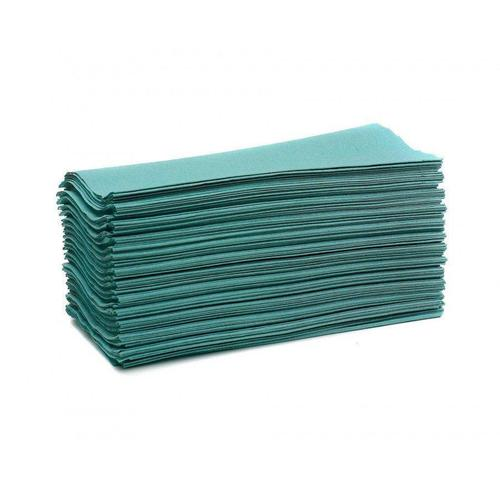 Maxima Hand Towels C-Fold 1-Ply Green 100% Recycled 192 Sheets Per Sleeve Ref 1104062 [15 Sleeves]