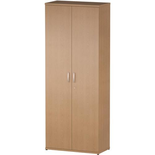 Trexus Office Very High Cupboard 800x400x2000mm 4 Shelves Oak Ref I000803