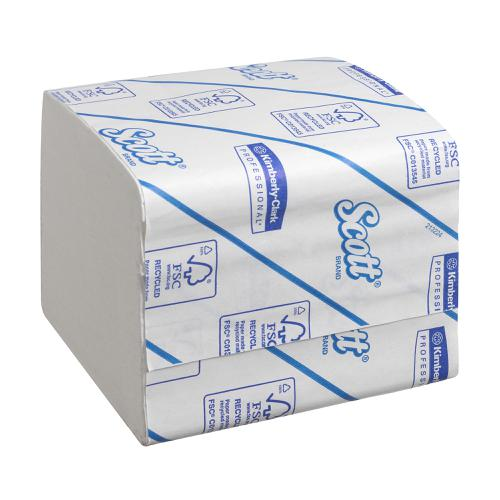 Scott Toilet Tissue Bulk Pack Interleved 2 ply 186x108mm 250 sheets per sleeve White Ref 8042 [Pack 36]