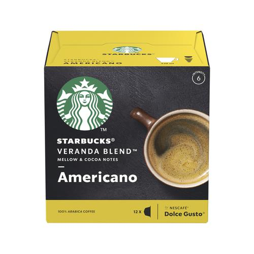 STARBUCK Blonde Veranda Americano Capsule for Dolce Gusto Machine 12397698 Pk 36 (3x12 Capsule=36 Drinks)