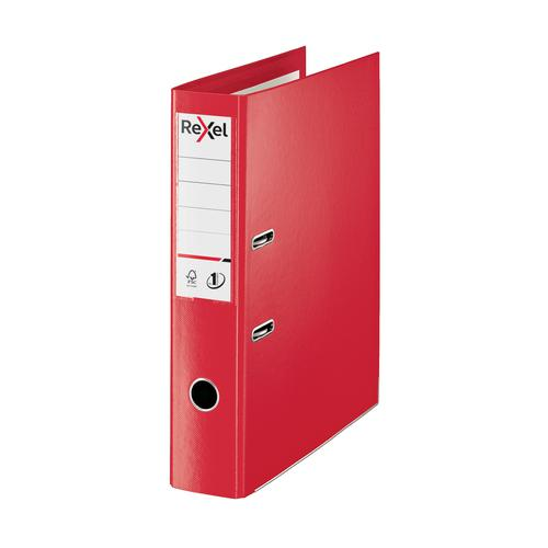 Rexel Choices LArch File PP 75mm FScap Red Ref 2115513