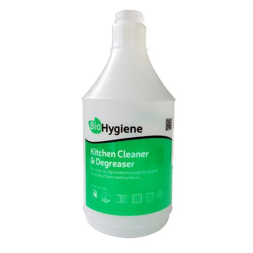BioHygiene Screen Printed Kitchen Cleaner & Degreaser Empty Trigger 750ml Bottle Ref BH204
