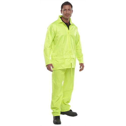 B-Dri Weatherproof Nylon B-Dri Weatherproof Suit Medium Yellow Ref NBDSSYM *Up to 3 Day Leadtime*