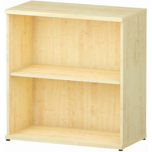 Trexus Office Low Bookcase 800x400x800mm 1 Shelf Maple Ref I000229