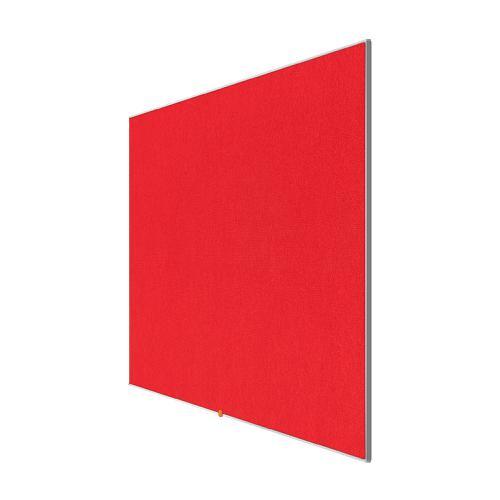 Nobo 85 inch Widescreen Felt Board 1880x1060mm Red Ref 1905313