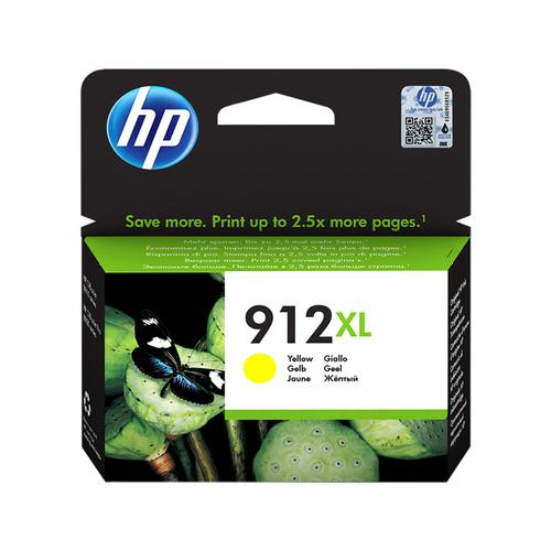 Hewlett Packard 912XL Inkjet Cartridge High Yield Page Life 825pp 9.9ml Yellow Ref 3YL83AE