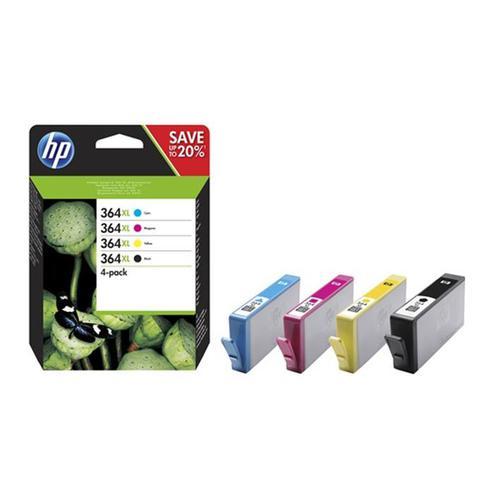 Hewlett Packard [HP] 364XL InkCartridges HY PageLife Blk 550pp Cyan/Mag/Yellow 750ppRef N9J74AE [Pack 4]
