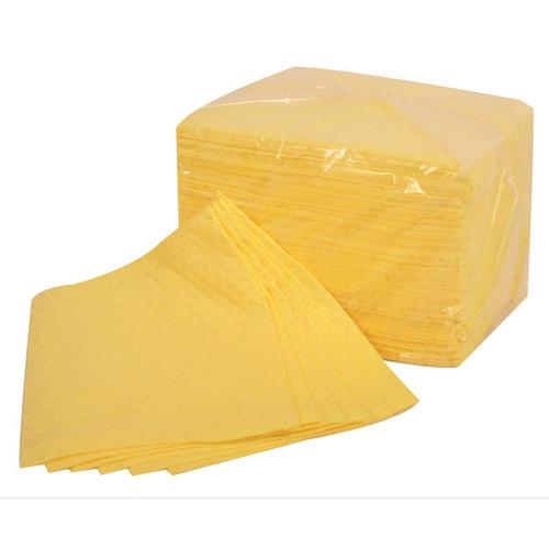Fentex Chemical Absorbent Pads 85 Litres 400x500mm Yellow Ref CB100M [Pack 100] *Up to 3 Day Leadtime*