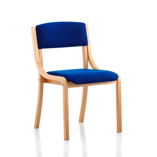 Trexus Wood Frame Conference Chair No Arms Blue 450x490x450mm Ref BR000087