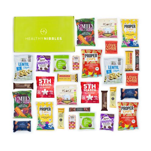 Healthy Nibbles Vegan Snack 30 Piece Office Box Ref Vegan30 *Up to 2-3 Day Leadtime*