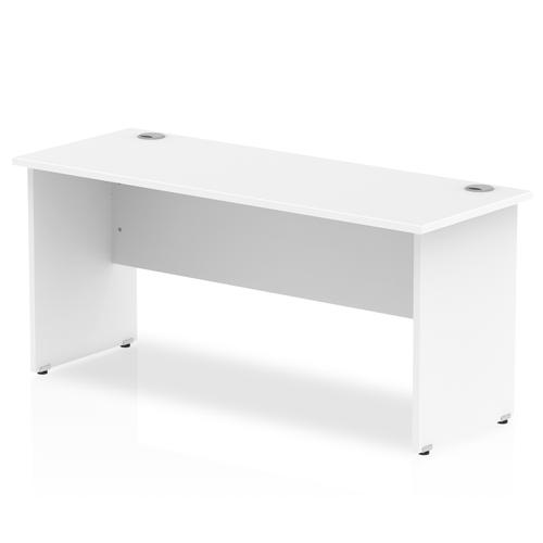 Trexus Desk Rectangle Panel End Leg 1600x600mm White Ref MI002248