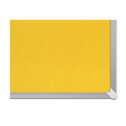 Nobo 85 inch Widescreen Felt Board 1880x1060mm Yellow Ref 1905321